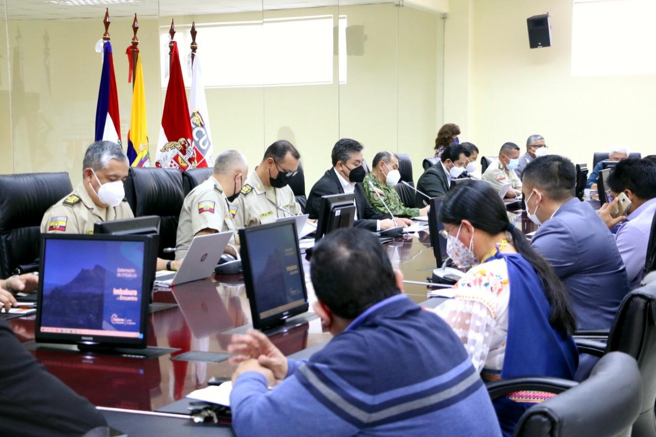 En Imbabura se instaló el comité provincial de seguridad ciudadana